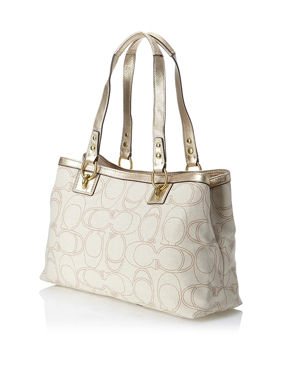 a35ae61156 COACH Penelope Linen Signature Carry All - Ivory Gold  Handbags  Amazon.com