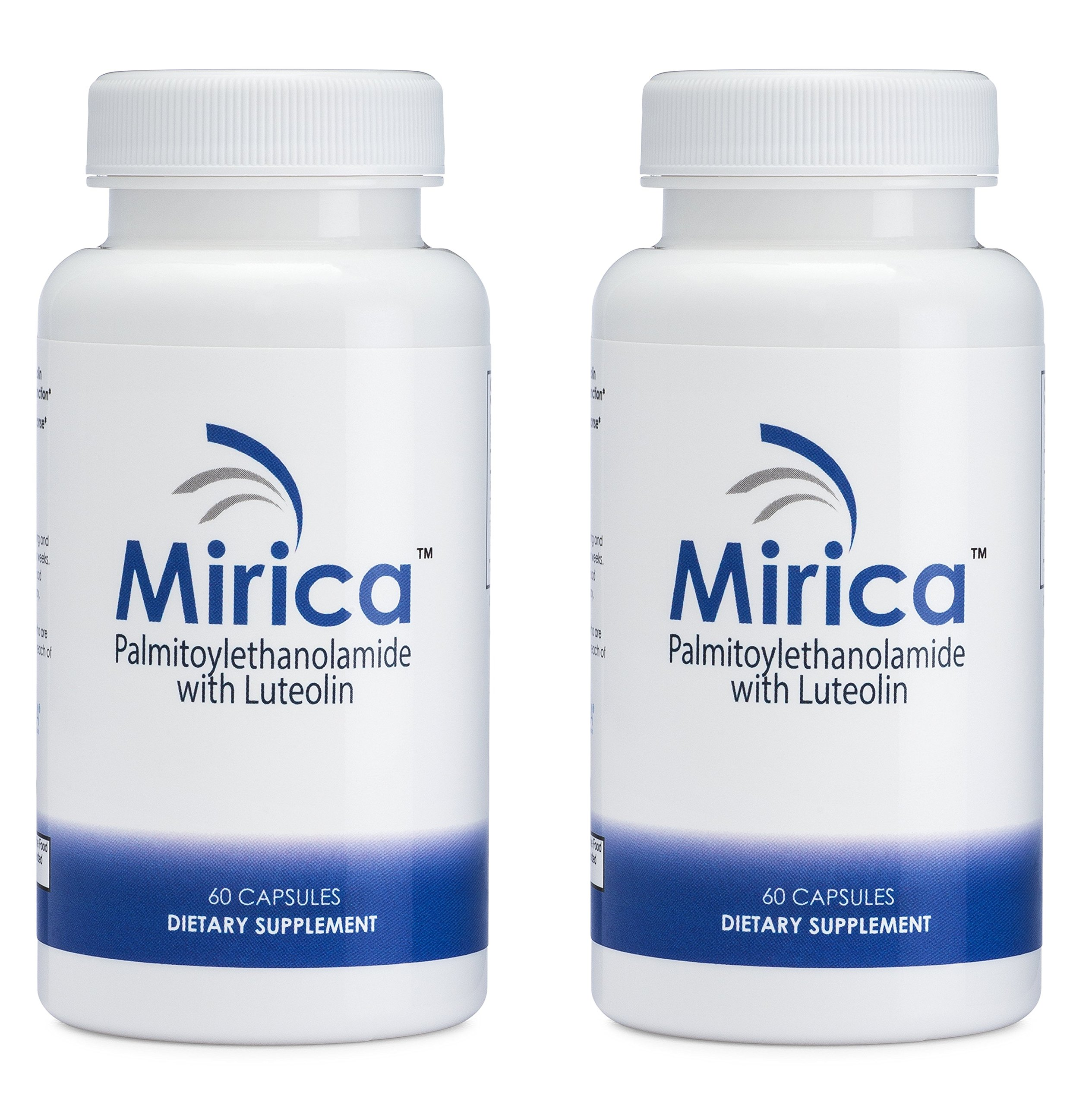 Mirica® Palmitoylethanolamide (Pea) & Luteolin - 2 Pack - Natural Pain Relief - Made with OptiPEA® - Anti-Inflammatory Supplement by Mirica