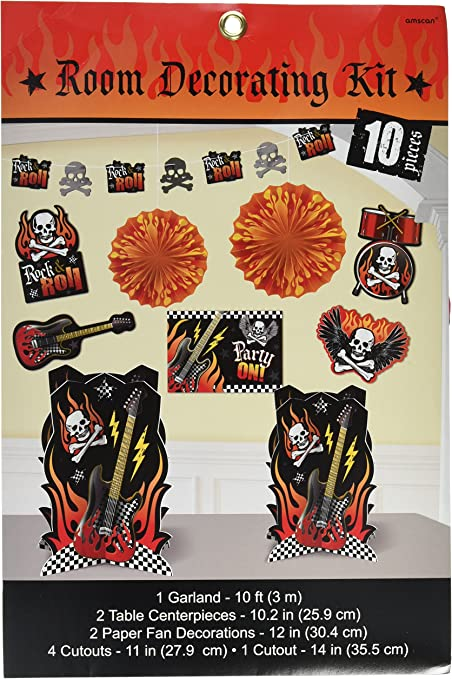 Party Rock Star Heavy Metal Music Kids Birthday Party 9 oz Paper Cups