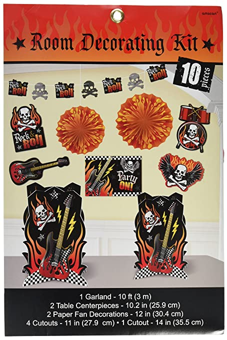Amazoncom Rock On Heavy Metal Themed Party Room Decorating Kit
