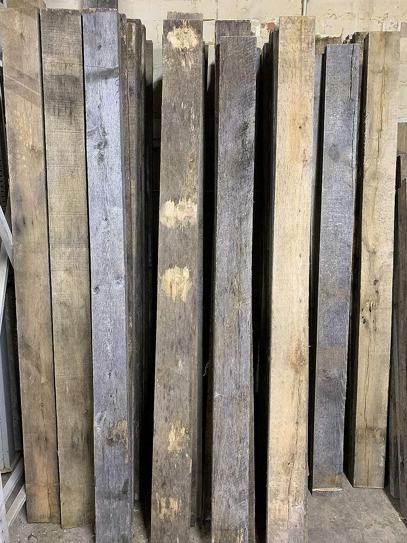 Amazon com: Vintage Oak Board 7ft   Rustic Antique Reclaimed