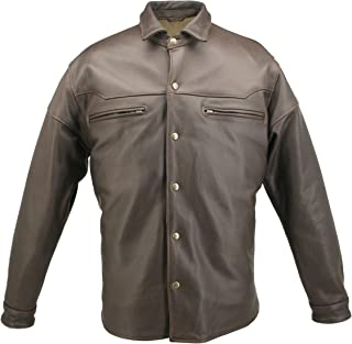product image for American Made Leather Shirt-Distressed Brown