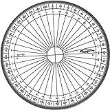 Graphoplex - Transportador circular (400 grados, sistema centesimal, 10 cm)