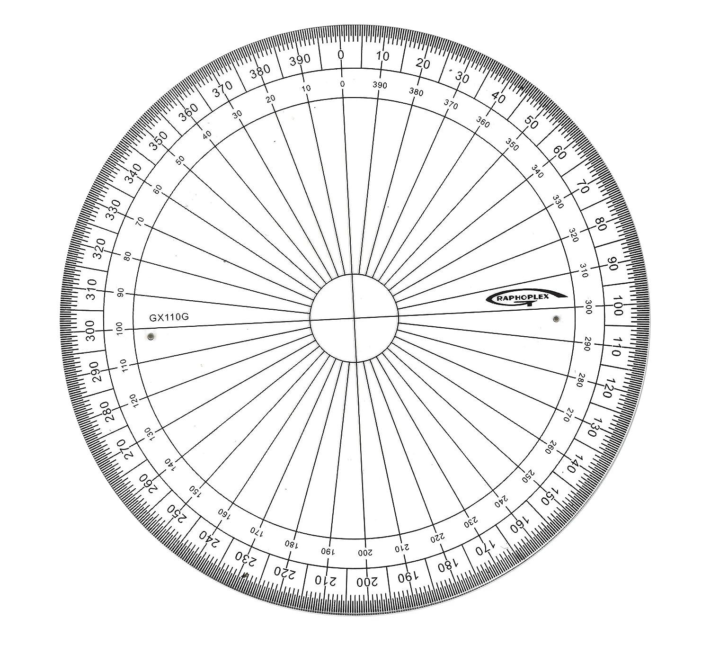 cercle gradue en degre
