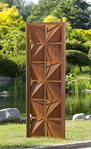 Gartenwand Sichtschutz Quadrat Rost Stahl 75x195 Cm Amazon De Handmade
