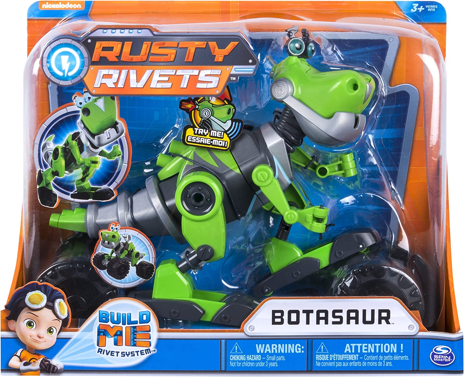 Rusty Rivets Botasaur Buildable Figure Lights Sounds Dino Robot Ages 3 Up Gift