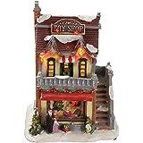 WeRChristmas - Decorazione natalizia con luci LED colorate, 15 cm, soggetto: negozio di giocattoli