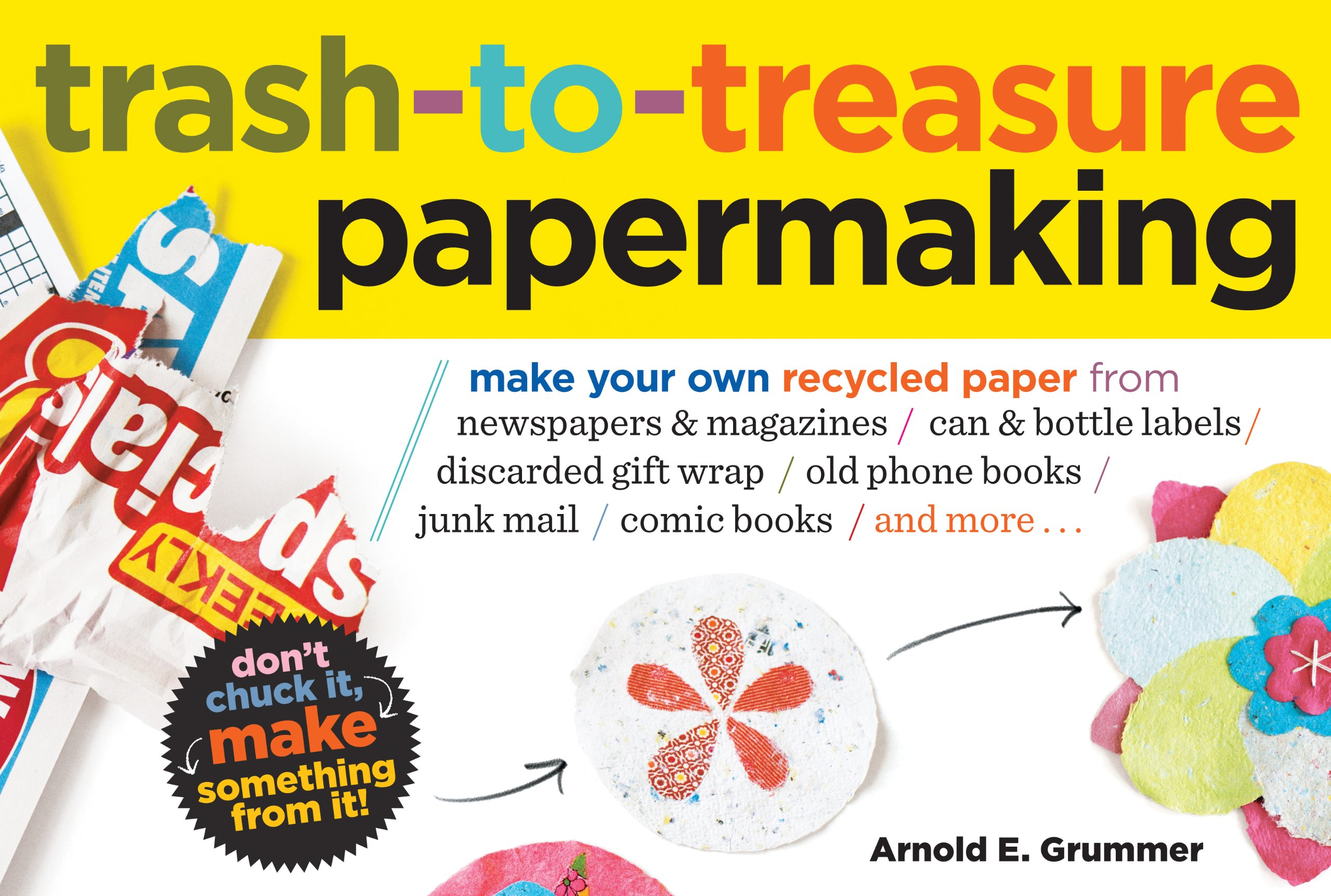 Trash To Treasure Part - 45: Trash-to-Treasure Papermaking: Make Your Own Recycled Paper From Newspapers  U0026 Magazines, Can U0026 Bottle Labels, Disgarded Gift Wrap, Old Phone Books, ...