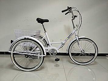 """Triciclo plegable para adultos, ruedas de 24"""" (61 cm), cambio de"""