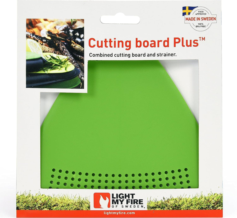 Light my Fire CuttingBoard Plus Passoire combin/ée /à Une Planche /à d/écouper Mixte Adulte Grey