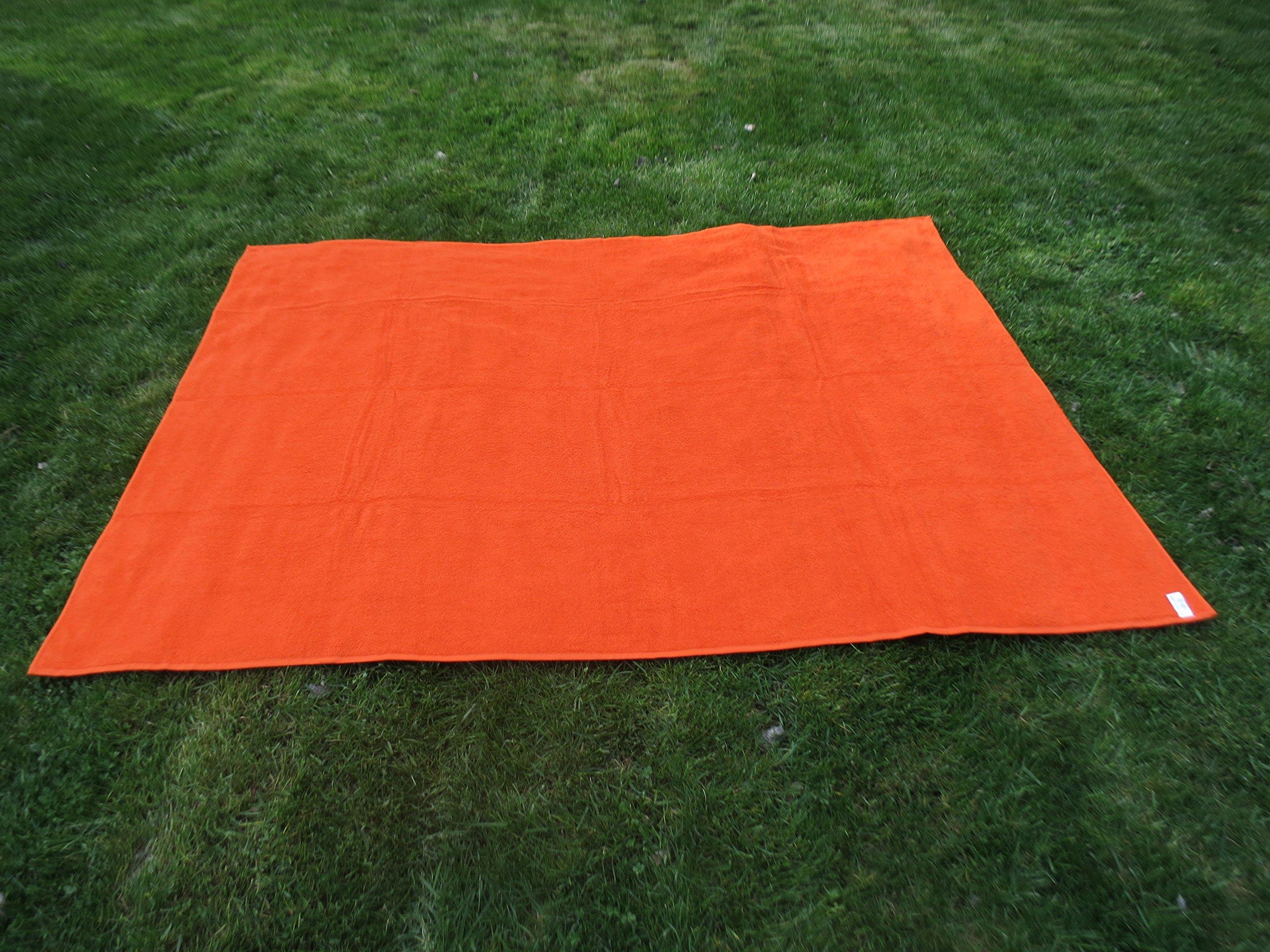 Toalla manta NARANJA 150x200cm , 100%algodón, 460gr/m2, fabricada en Portugal. product image