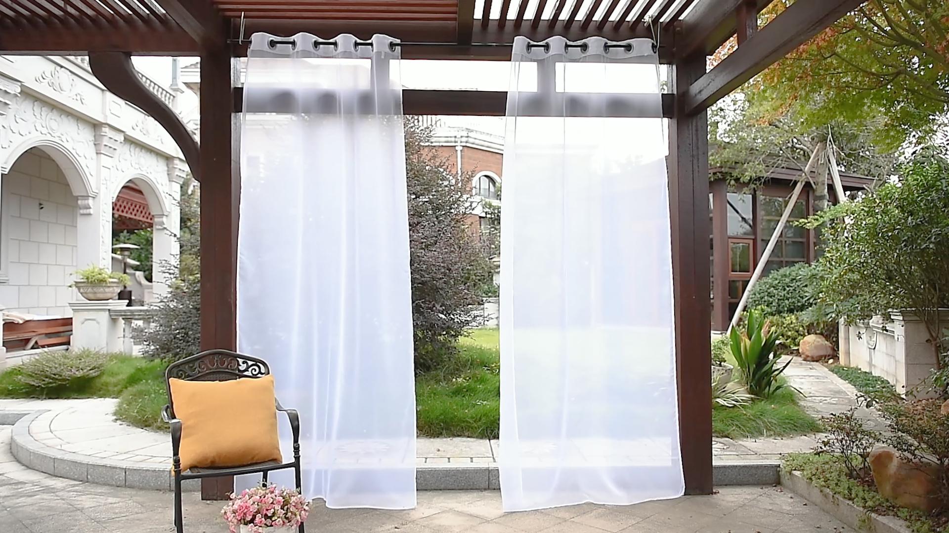 Flipboard Pony Dance Patio Gazebo Curtains White Sheer Curtain