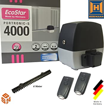 Hormann EcoStar recambio para sistema de apertura puerta corredera Portronic 4000 S de dónde se sitúe + mandos a distancia: Amazon.es: Bricolaje y herramientas