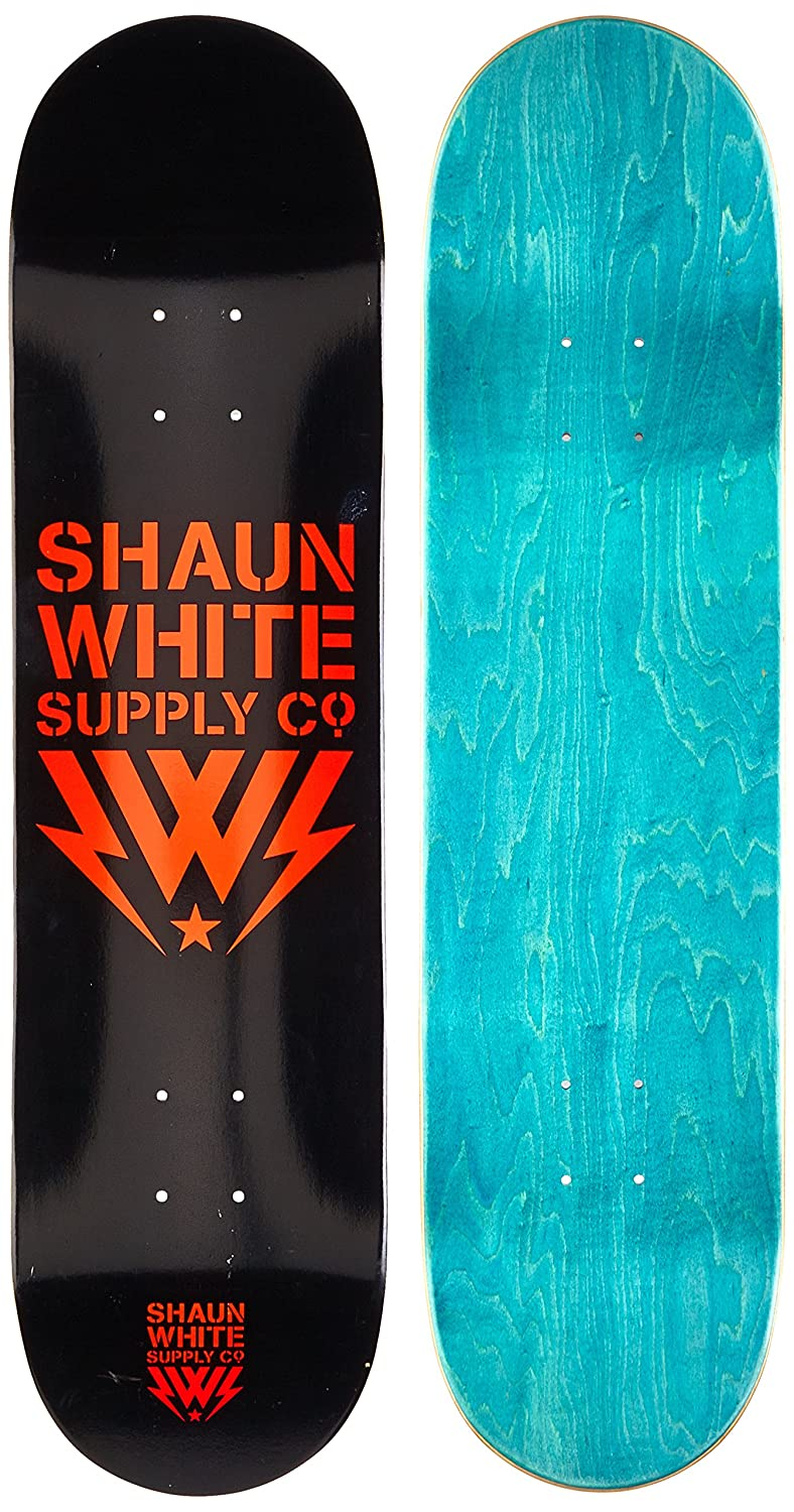 Shaun White Supply Co.. Kinder Skateboard Deck Core-Logo, 31,5x8 schwarz grau 5x8 820000/gr 820000/gr_Gris-Única