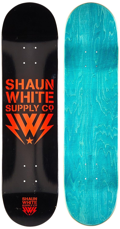 "Shaun White Supply Co.. Kinder Skateboard Deck Core-Logo, 31,5""x8"" schwarz grau 5""x8"" 820000/gr 820000/gr_Gris-Única"