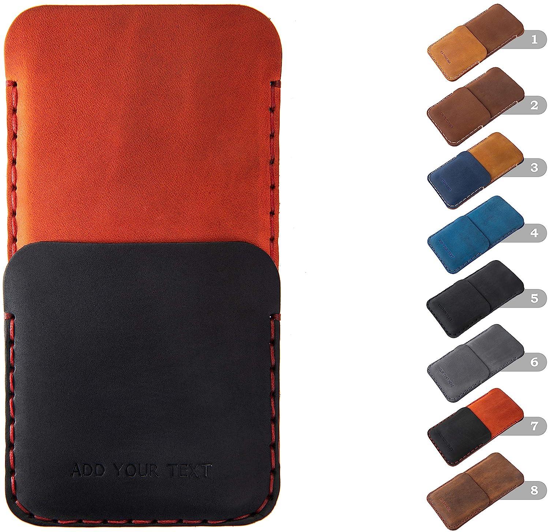 Premium PersonalisedCustomised Leather Phone CaseCover and Cardholder Gift Bundle