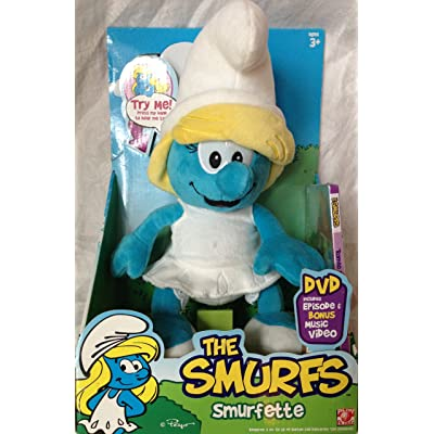 "Smurfs Smurfette 12"" Plush with Sounds and DVD: Toys & Games"
