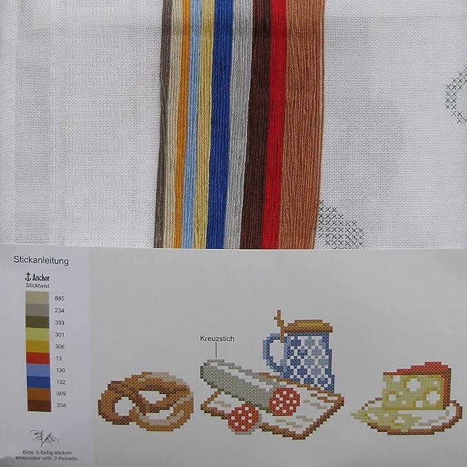 Stickpackung BROTZEIT / Komplettes Vorgezeichnetes Tischdecken Set ...