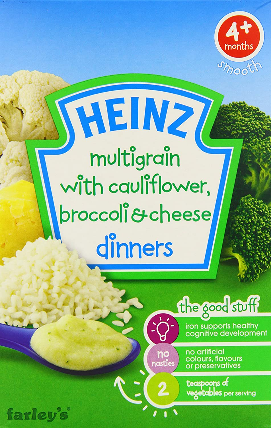 Heinz Dinners Cauliflower and Broccoli Cheese 4 Plus Months 125 g (Pack of 6)
