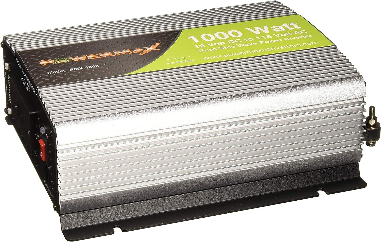 Powermax 1000 Watt Pure Sine Wave DC to AC Power Inverter