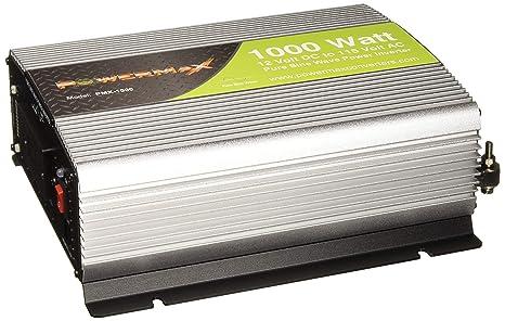 PowerMax 1000W 1000W 12Vdc to 120Vac Pure Sine Wave Inverter on