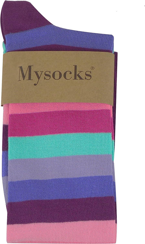 Mysocks Unisex Kniestr/ümpfe lange Socken Streifen