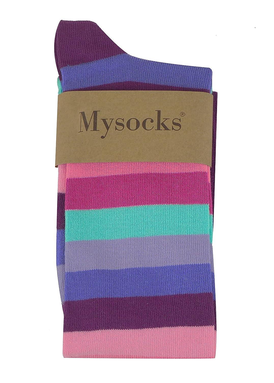 Mysocks Calzini al ginocchio banda Cotone pettinato extra puro