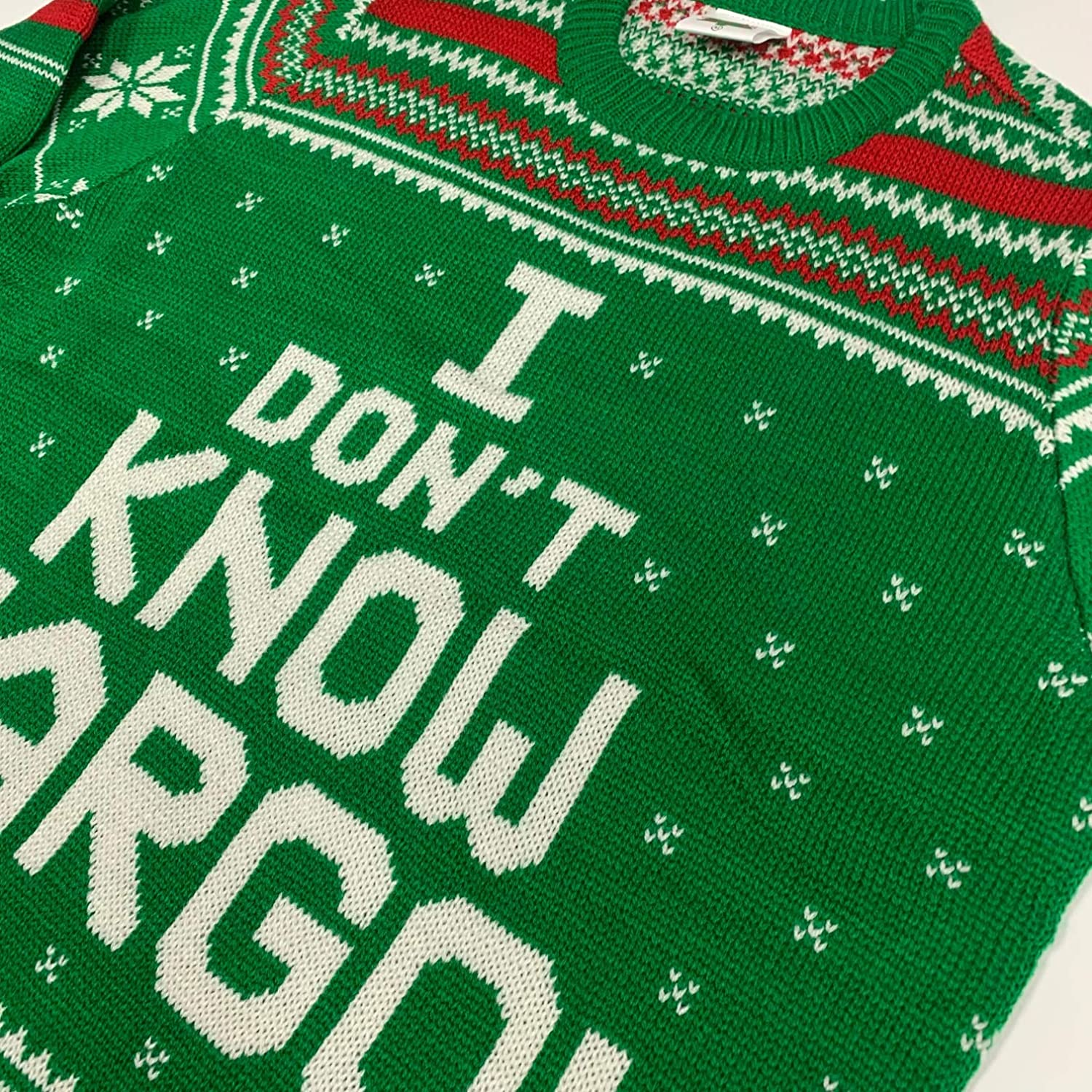I Dont Know Margo Ugly Christmas Sweater Green