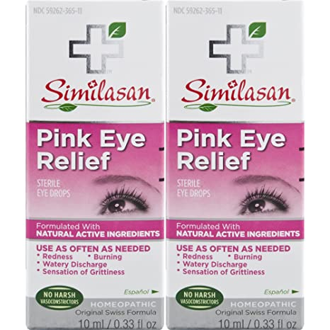 47f91b70f60 Amazon.com: Similasan Pink Eye Relief Drops 0.33 fl oz 2 Count, for  Temporary Relief from Red Eyes, Itchy Eyes, Burning Eyes, and Watery Eyes,  ...