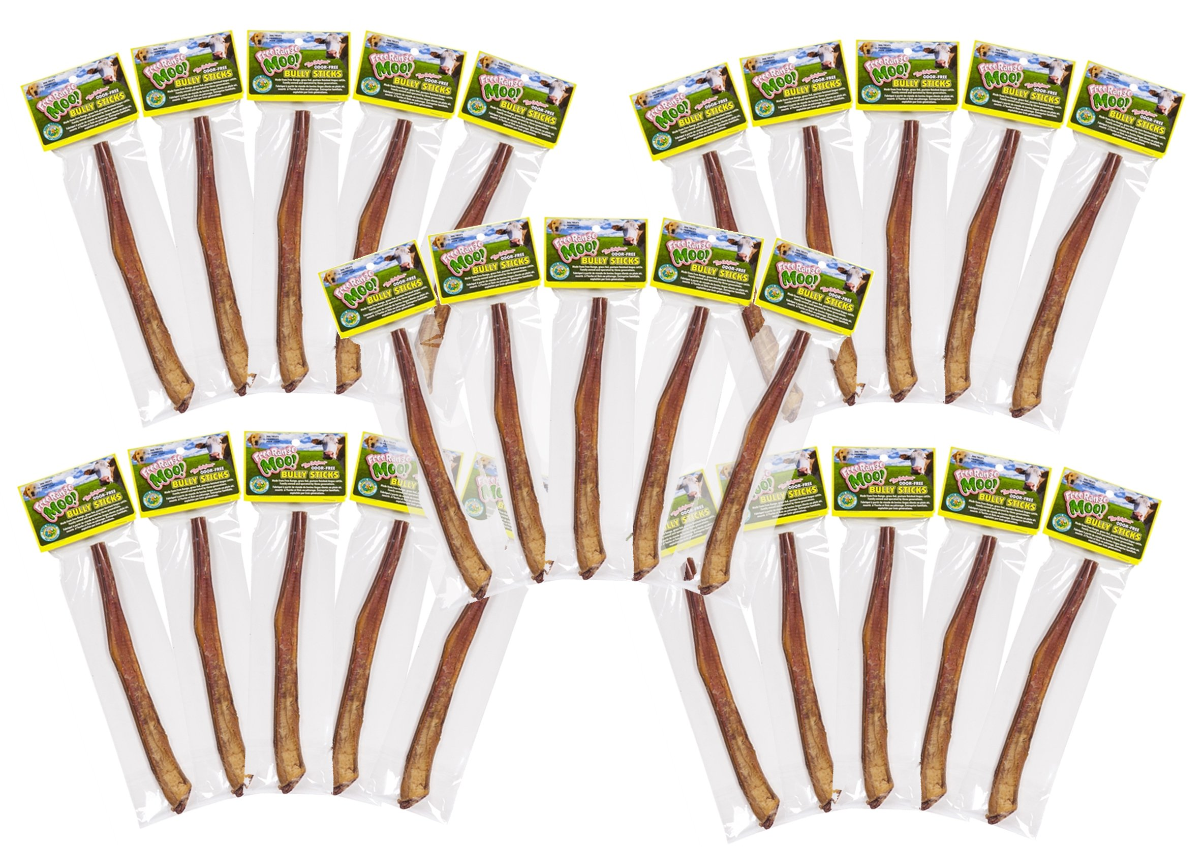 Free Raised Pet Products, 11-12 inch Supreme Bully Sticks, 30 Pack
