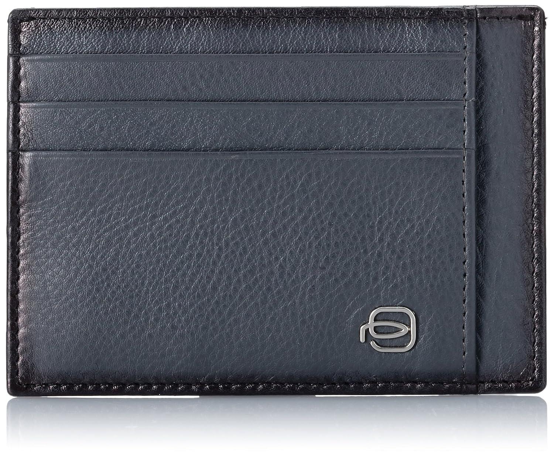 Piquadro Edge Porta Carte di Credito, Nylon, Blu, 11 cm PP2762ED/BLU