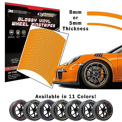 Perfect Pinstripe Gloss Wheel Kit Curved Tape for A Pre-Cut 3M 1080 Vinyl Pinstriping 20 Wheel, 5mm Stripe, Gloss Burnt Orange G14