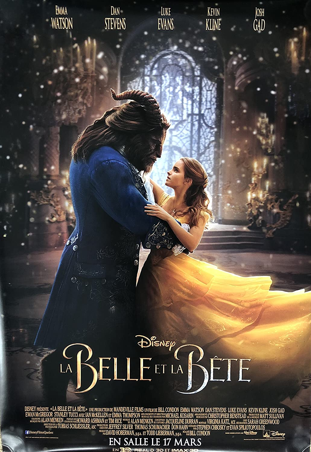 Amazon Com Beauty And The Beast 2017 Original Authentic Movie Poster 27x40 Dbl Sided French Version Set Of 2 Emma Watson Dan Stevens Luke Evans Kevin Kline Everything Else