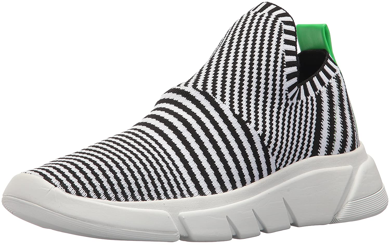KENDALL + KYLIE Women's Caleb Sneaker B078SG4KYN 6.5 B(M) US|Black & White