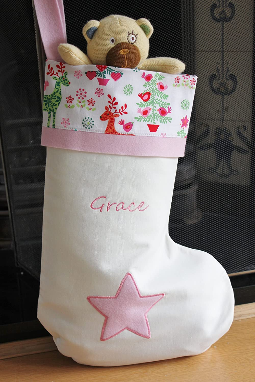 ALPHABET BARN Personalised Christmas stocking handmade in the UK ...