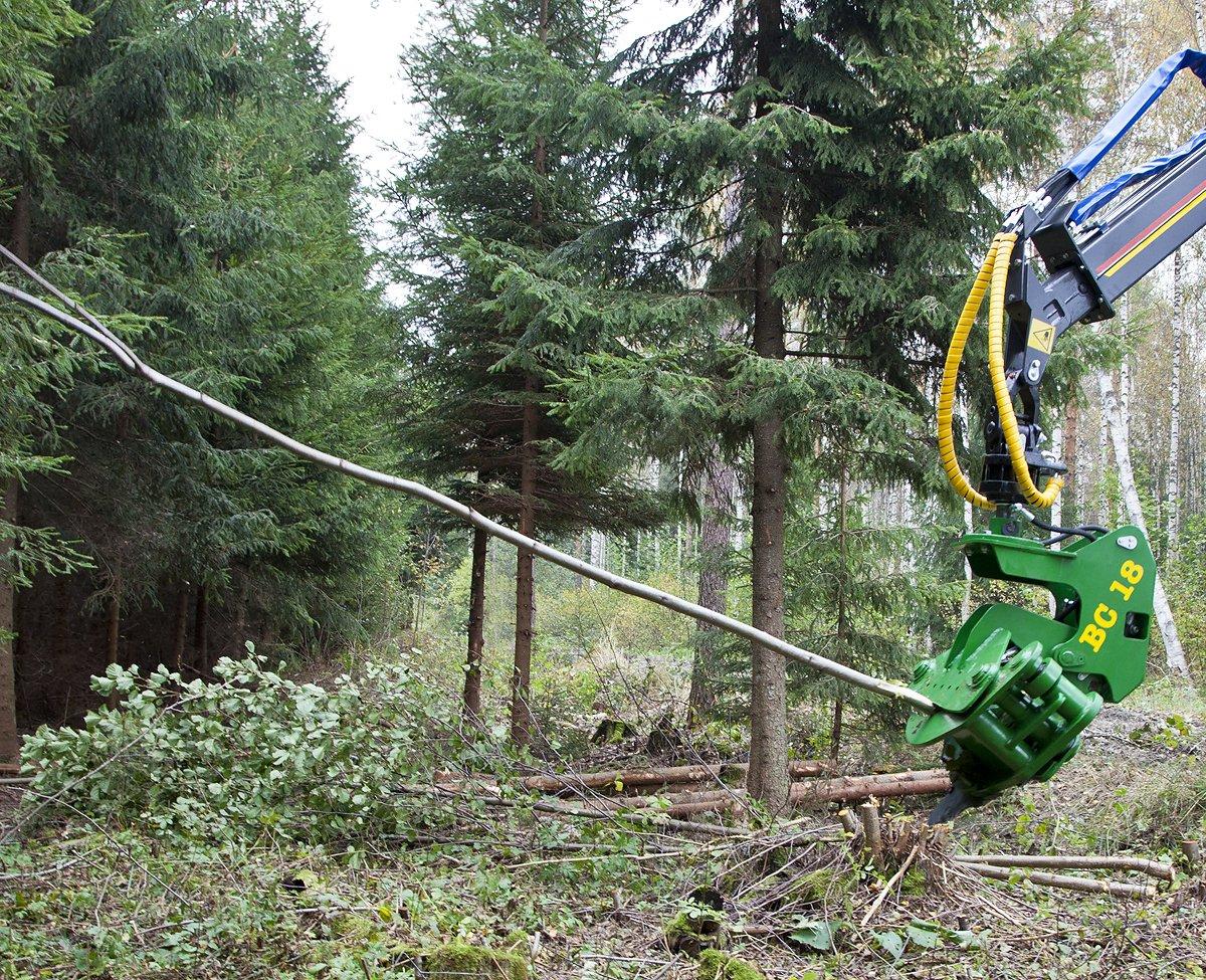 Farma BC18 Fällgreifer Bagger ohne Tiltfunktion Schneidkopf Energieholzgreifer