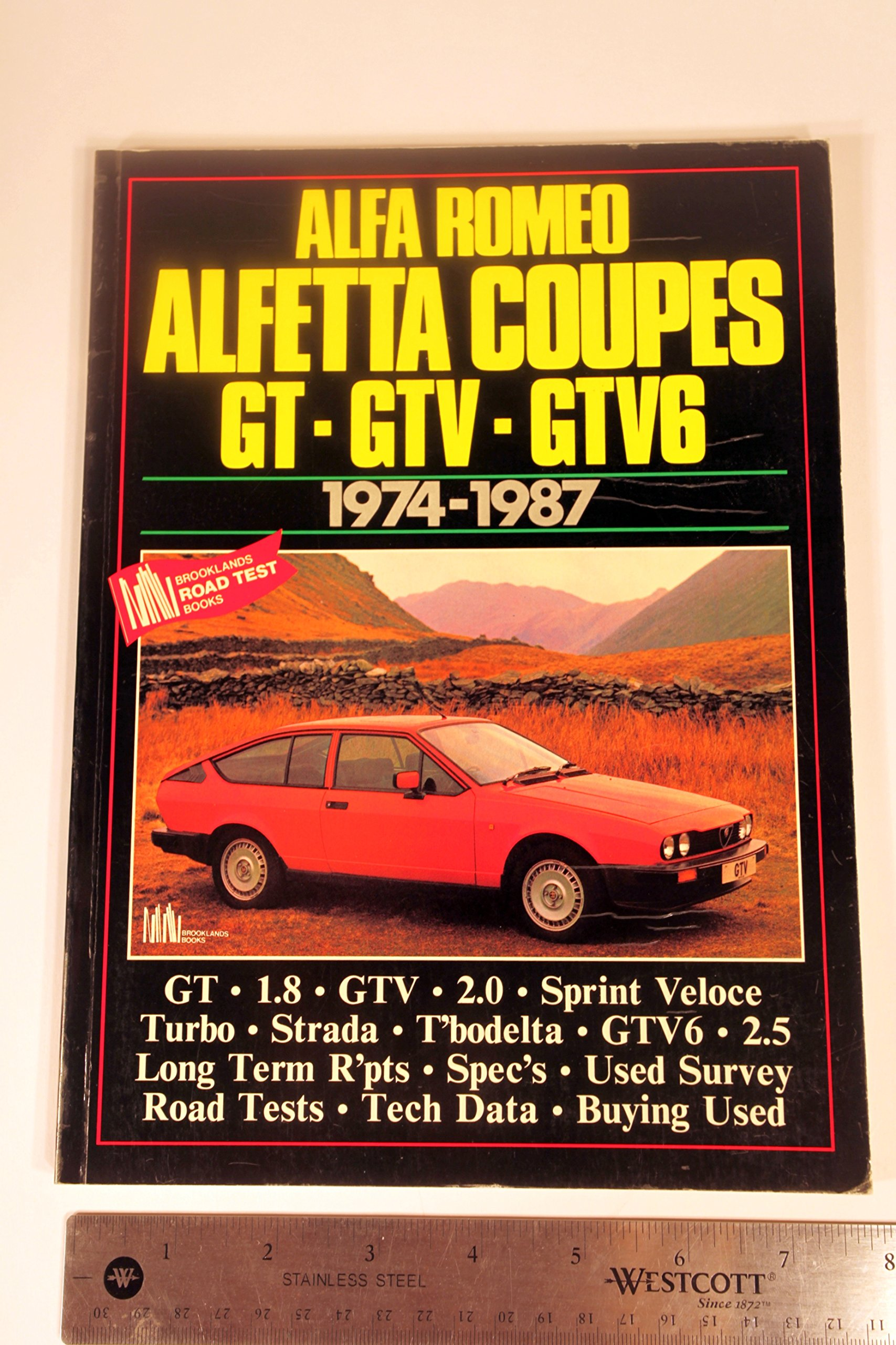Alfa Romeo Alfetta Coupes, 1974-87 (Brooklands Books Road Tests Series) Paperback – September, 1988