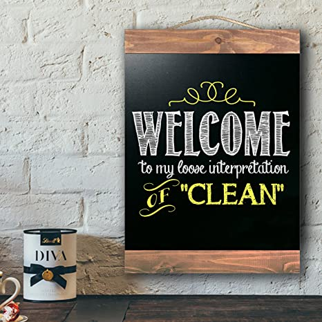 Rustic Wood Framed Chalkboard, Vintage Wall Decor for Kitchen, Restaurant, Cafe, Bar, Menu, Decorative Chalk Board Wedding Sign, Home and Office with ...
