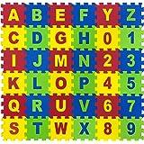 Toy Park 36 pcs Alphanumeric EVA MAT Puzzle (17x17cmx8.5mm)- Pack of 36 Pieces