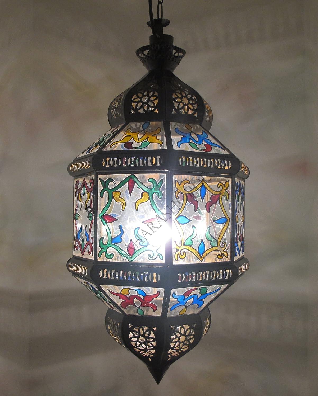 Saharashop Orientalische Hängelampe Transparent Transparent Transparent XL 2eac41