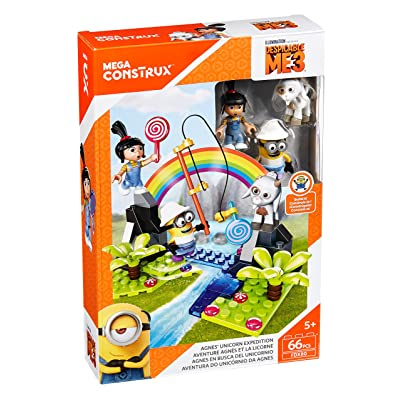 Mega Construx Despicable Me Agnes Unicorn Expedition Building Set: Toys & Games