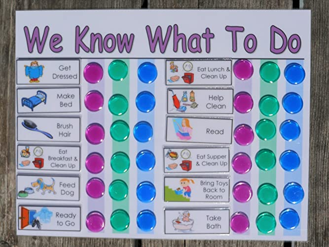 amazon com daily chore chart for multiple kids you choose title