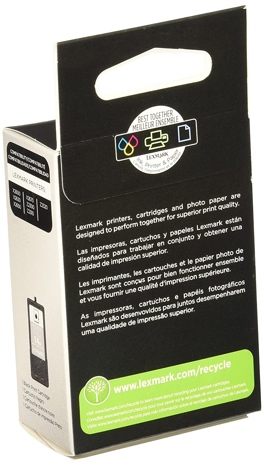 Lexmark No 14A Black Print Cartridge