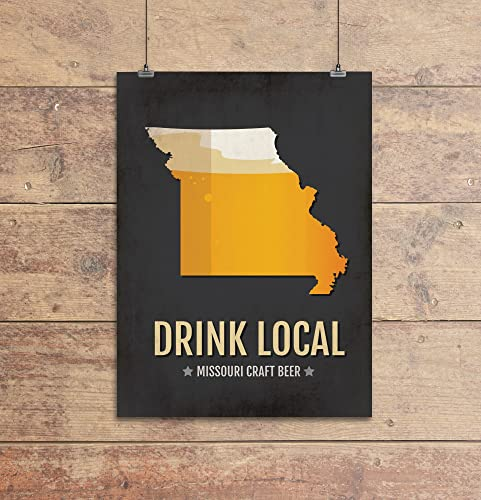 Amazoncom Missouri Beer Print Map MO Drink Local Craft Beer - Missouri breweries map