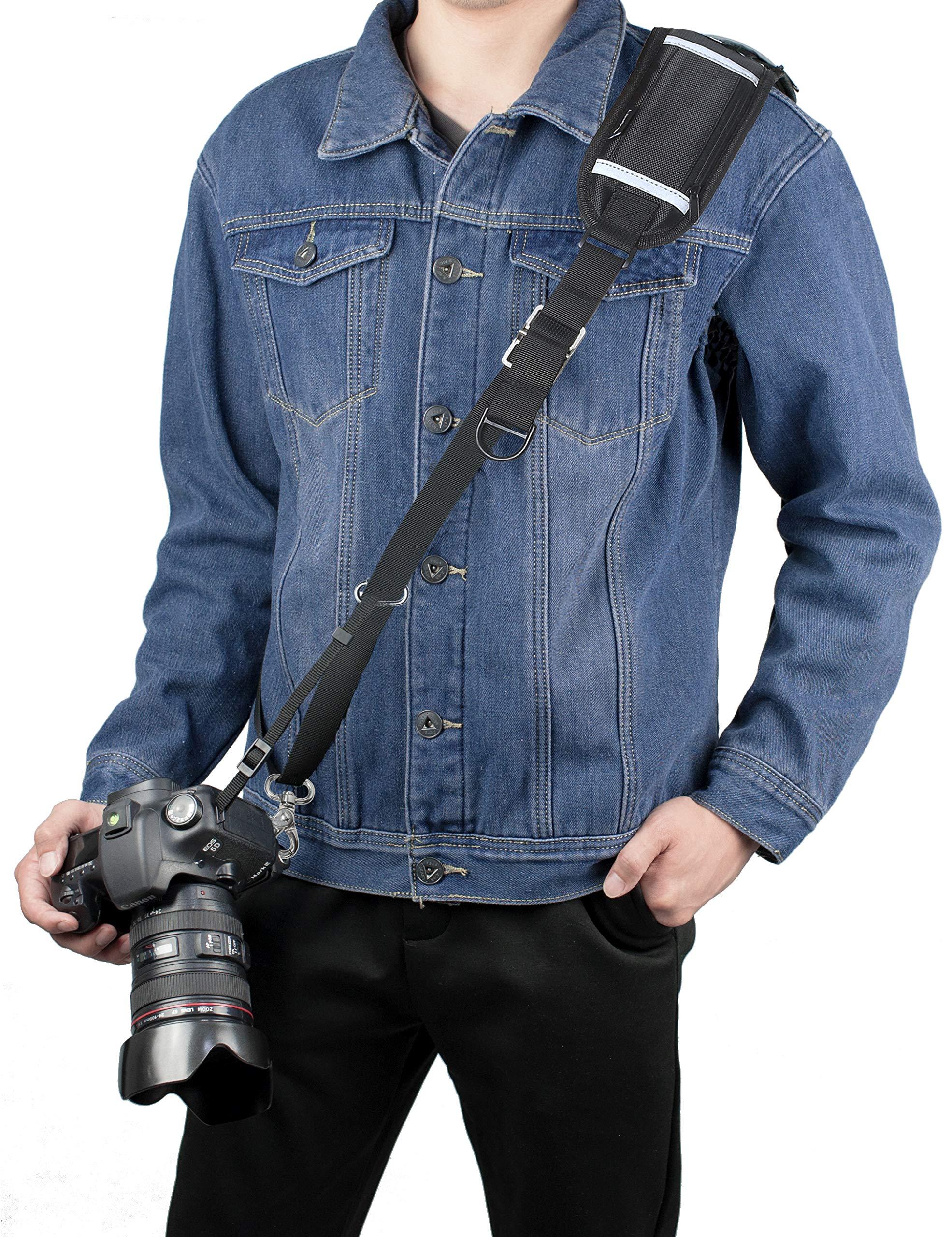 Sugelary Camera Strap, Long Shoulder Neck Sling Strap Quick Release DSLR Strap for Canon Nikon Sony Mirrorless Camera (Shoulder Neck Strap) by Sugelary