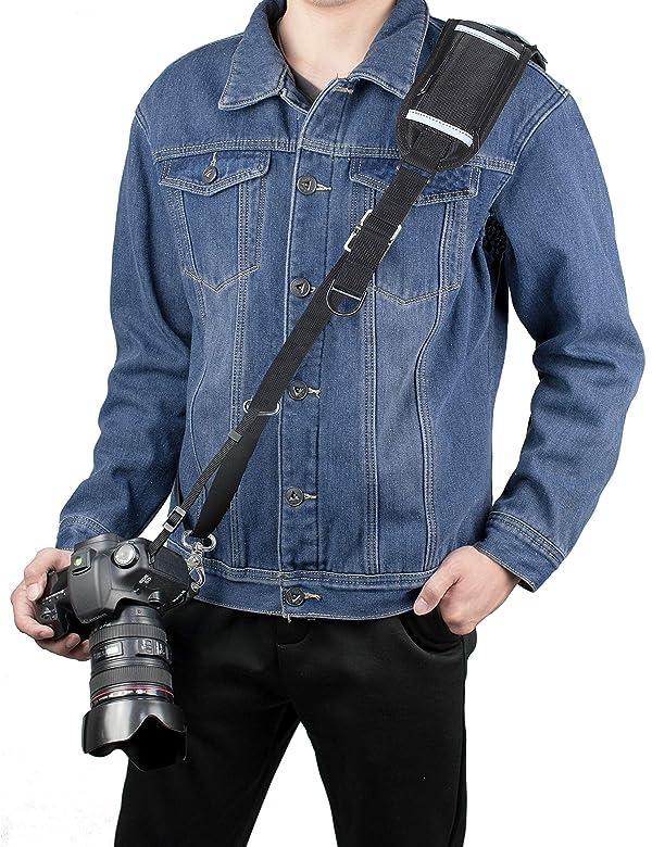 Sugelary Camera Strap, Long Shoulder Neck Sling Strap Quick Release DSLR Strap for Canon Nikon Sony Mirrorless Camera (Shoulder Neck Strap) (Color: Shoulder Neck Strap)