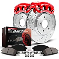 Power Stop KC690 1-Click Performance Brake Kit with Calipers, Front Only
