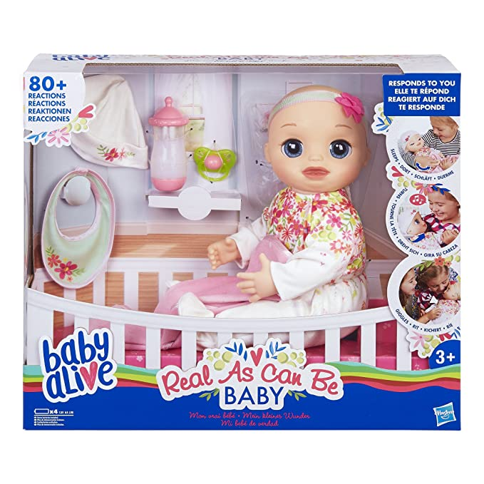 8 opinioni per Hasbro Baby Alive Real As Can Be, E2352ES0