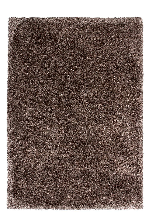 Lalee  347152346  Designer Hochflor Shaggy Teppich   Handarbeit   Uni   Weicher Langflor   Edel   Braun   Grösse   60 x 110 cm