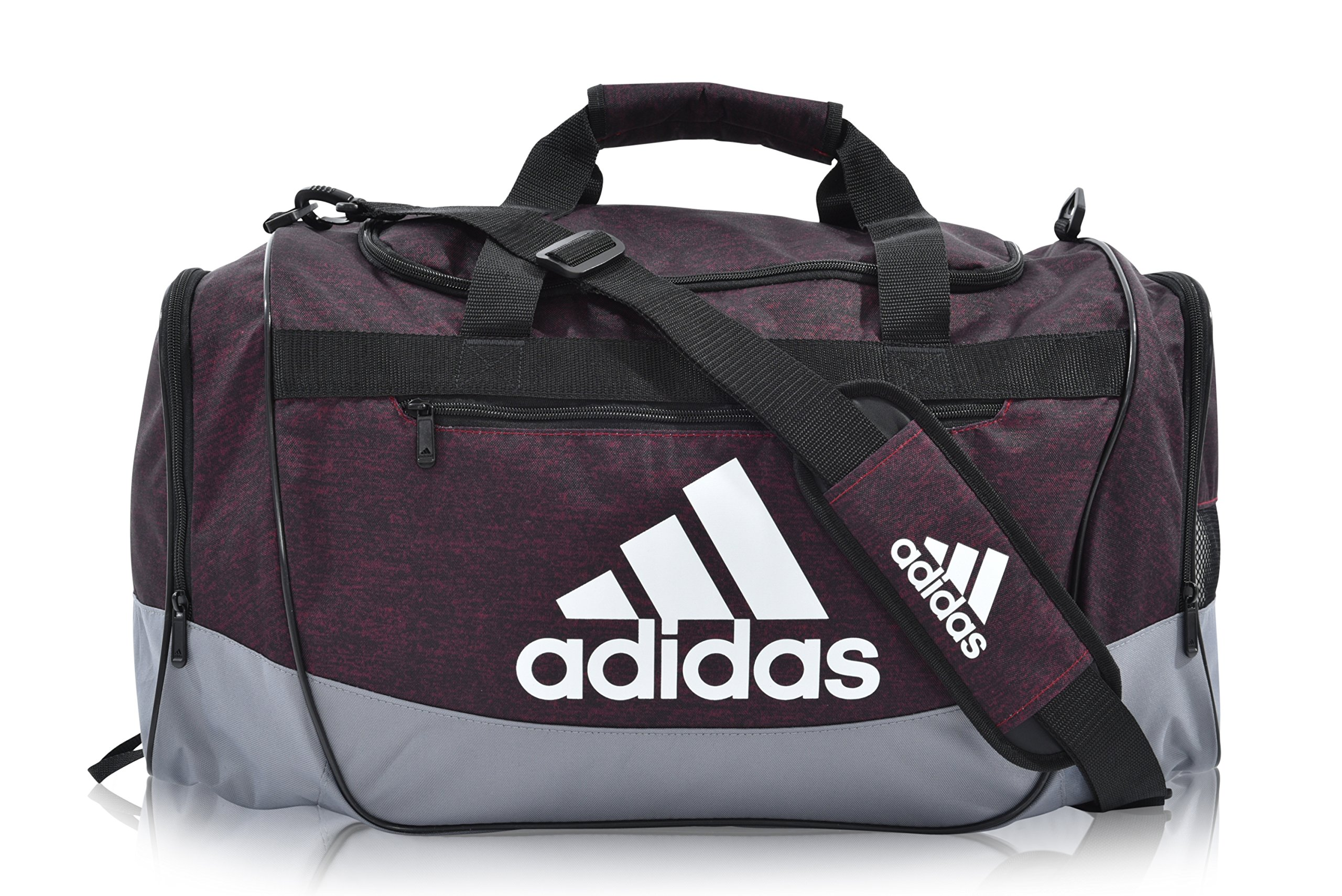 adidas Defender III Duffel Bag (Medium, Burgundy)